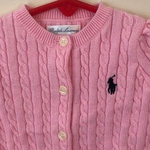 Polo Ralph Lauren Girl Pink Sweater Size 3 Month